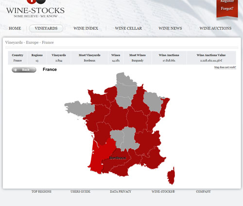 Screenshot of the Map Search - Europe - France